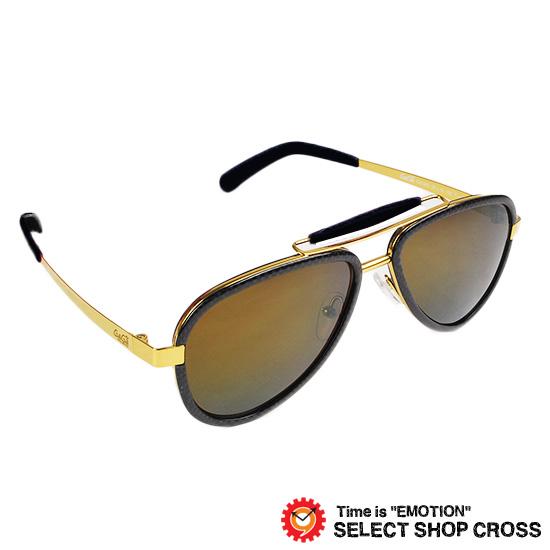 GAGA MILANO ガガミラノ サングラス アイウェア ファッション ブラック/ブラウンレンズ/ゴールドミラー LU54TCGO BKF BLACK FL