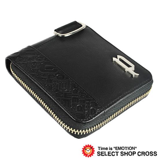 ポリス POLICE CIRCUIT サーキット メンズ ラウンドジップ 二つ折り財布/ミニウォレット レザー PA-56102-10 ブラック