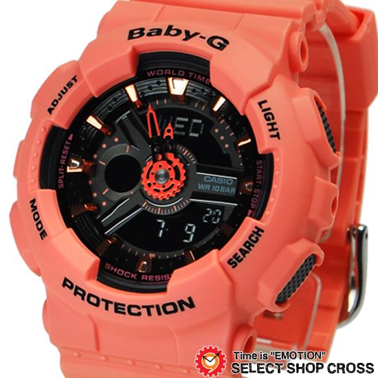 【名入れ対応】 【3年保証】 ベビーG カシオ Baby-G CASIO レディース キッズ 子供 腕時計 ブランド アナログ BA-111-4A2DR レッド系 海外モデル