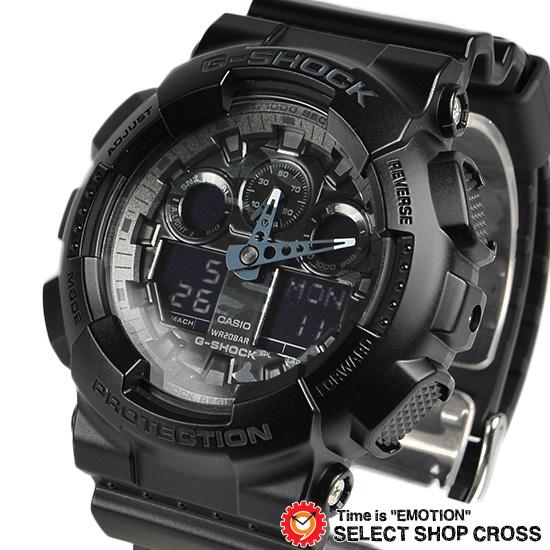 【3年保証】 カシオ 腕時計 CASIO G-SHOCK CAMOUFLAGE DIAL SERIES GA-100CF-1A Gショック 防水 ジーショック メンズ 時計 アナデジ GA-100CF-1ADR ブラック 黒 迷彩 カモフラージュ 海外モデル カシオ 腕時計 [国内 GA-100CF-1AJF と同型] 【あす楽】