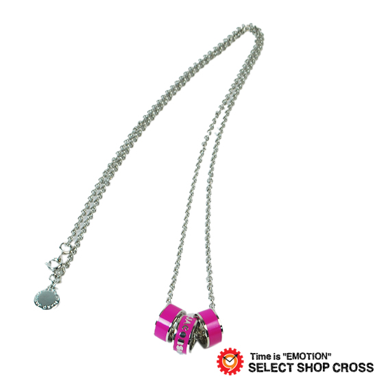 マークバイマークジェイコブス 3連ロゴリングネックレス クラシックマーク Sweetie Rings Necklace ピンク×シルバー M0001154A-81008 【あす楽】