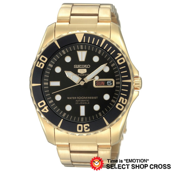 【3年保証】 SEIKO セイコー 5 SPORTS ファイブ スポーツ メカニカル 自動巻(手巻なし) メンズ 腕時計 SNZF22J1(SNZF22JC) 海外モデル 逆輸入 正規品