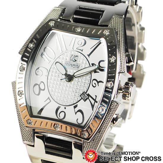 ユニバーシティ UNIVERSITY メンズ腕時計 長渕剛さん 着用モデル アナログ ステンレス ホワイト シルバー US203WH