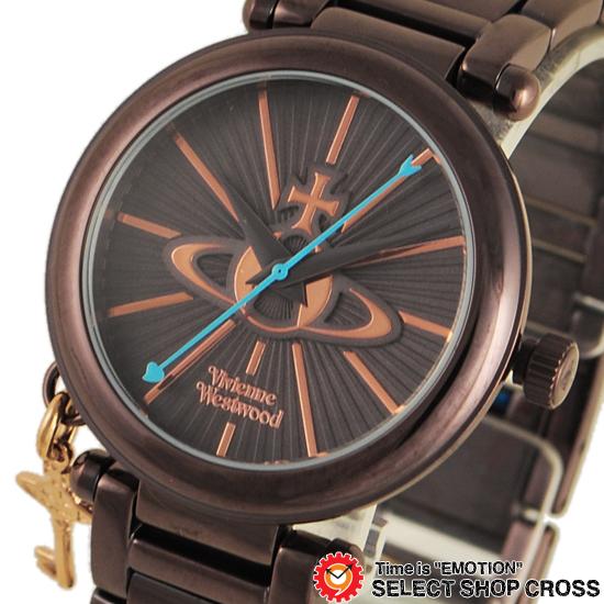 ヴィヴィアン・ウエストウッド Vivienne Westwood レディース アナログ 腕時計 ブランド Kensington 2 オーブキーチャーム VV006KBR ブラウン