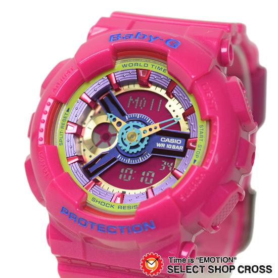 【名入れ対応】 【3年保証】 ベビーG カシオ Baby-G CASIO レディース キッズ 子供 腕時計 ブランド アナデジ BA-112-4ADR ピンク 海外モデル