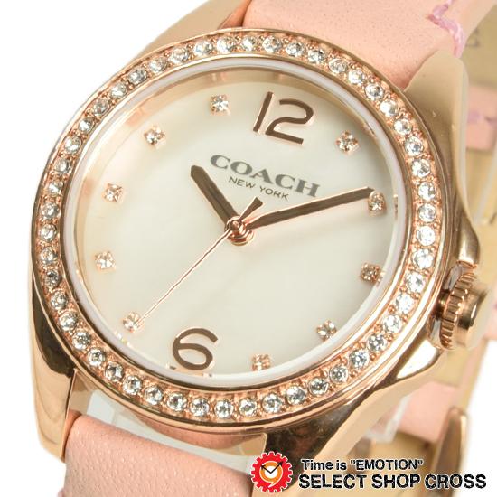 コーチ COACH レディース 腕時計 ブランド Tristen Mini (トリステン ミニ) ホワイトパール/ベビーピンクレザー 14502176