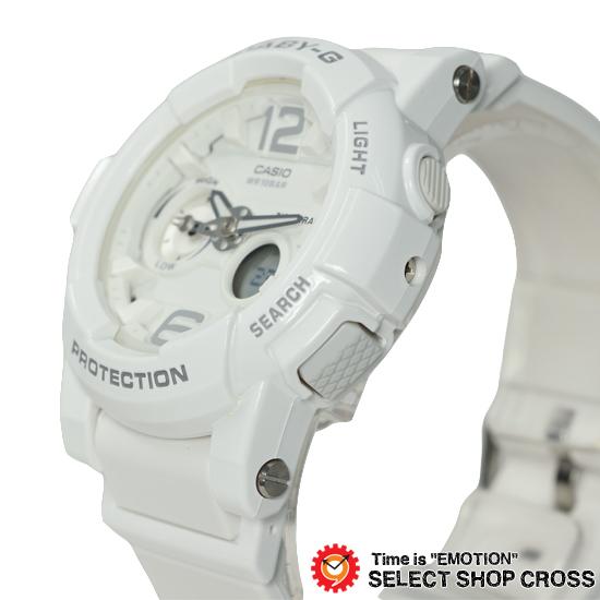 【名入れ対応】 【100%本物保証】 【3年保証】 Baby-G CASIO カシオ ベビーG レディース キッズ 子供 腕時計 ブランド アナデジ BGA-180-7B1DR ホワイト 海外モデル