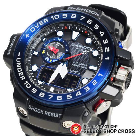 【名入れ対応】 【3年保証】 カシオ 腕時計 CASIO G-SHOCK 電波ソーラー GWN-1000B-1B GULFMASTER ガルフマスター 防水 ジーショック メンズ 時計 電波時計 アナデジ GWN-1000B-1BDR ブラック 黒 海外モデル カシオ 腕時計 [国内 GWN-1000B-1BJF と同型]