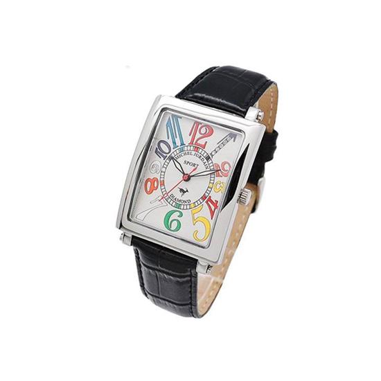MICHEL JURDAIN SPORT ミッシェル ジョルダンスポーツ メンズ 腕時計 ダイヤモンド入 SG-3000-6 ホワイトマルチ×ブラックレザーベルト 【着後レビューを書いて1000円OFFクーポンGET】