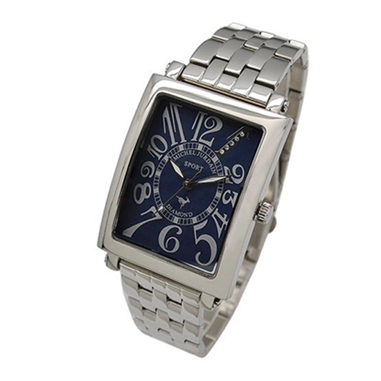MICHEL JURDAIN SPORT ミッシェル ジョルダンスポーツ メンズ 腕時計 ダイヤモンド入 SG-3000-8B ネイビーホワイト×シルバーメタルベルト 【着後レビューを書いて1000円OFFクーポンGET】