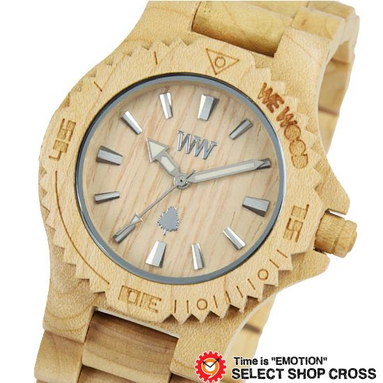 WEWOOD ウィーウッド 正規品 DATE BEIGE デイト ベージュ NATURAL WOOD ナチュラルウッド ハンドメイド 木製腕時計 9818025