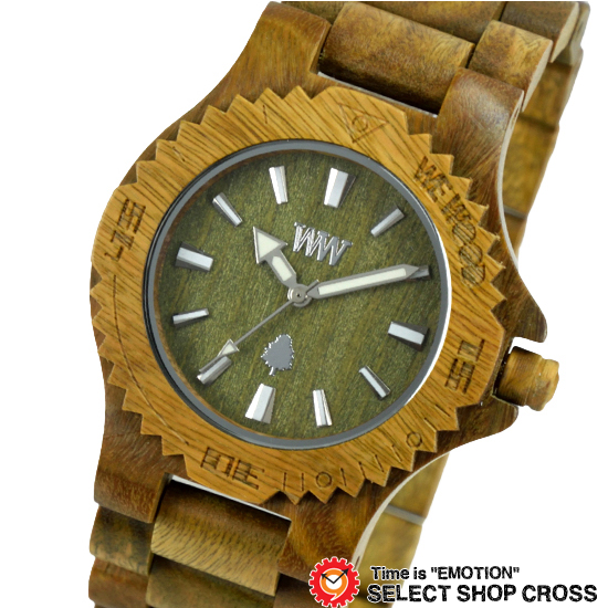 WEWOOD ウィーウッド 正規品 DATE ARMY デイト アーミー NATURAL WOOD ナチュラルウッド ハンドメイド 木製腕時計 9818026