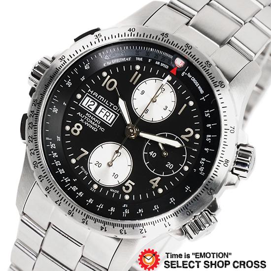 ハミルトン HAMILTON メンズ 腕時計 アナログ カーキ・X-ウインド H77616133 ブラック 黒 【男性用腕時計 リストウォッチ ランキング ブランド 防水 カラフル】