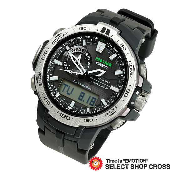 【3年保証】 カシオ 腕時計 CASIO PRW-6000-1 プロトレック トリプルセンサー 電波ソーラー 時計 電波時計 アナデジ PRW-6000-1ER ブラック 海外モデル カシオ 腕時計 【あす楽】