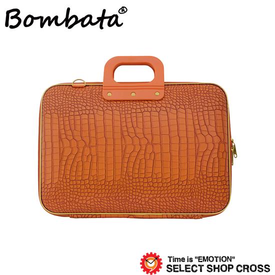 ボンバータ 正規品 PCバッグ ノートパソコン用ブリーフケース GD Medio Cocco Bombata ゴールド メディオコッコ 13インチ・A4 BA001-13 オレンジ 【あす楽】