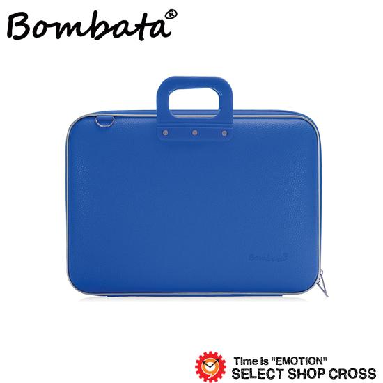 ボンバータ 正規品 PCバッグ ノートパソコン用ブリーフケース Maxi Bombata マキシ 17インチ・B4ファイル対応 PVCレザー E00651-18 ブルー 【あす楽】