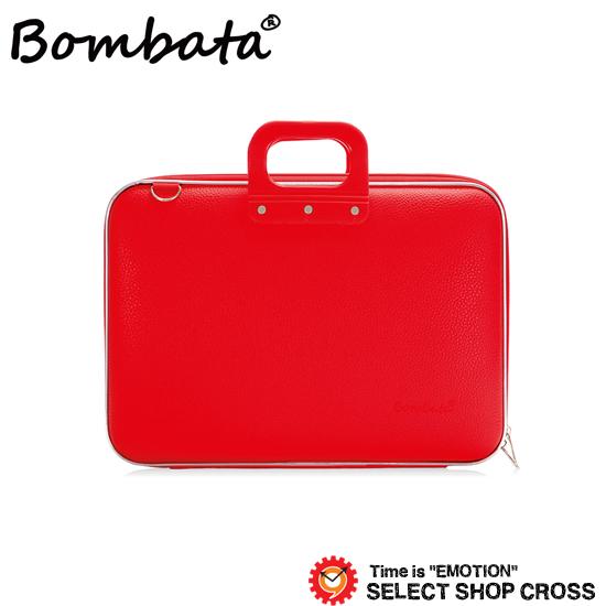 ボンバータ 正規品 PCバッグ ノートパソコン用ブリーフケース Maxi Bombata マキシ 17インチ・B4ファイル対応 PVCレザー E00651-5 レッド 【あす楽】