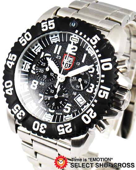 ルミノックス LUMINOX メンズ 腕時計 クロノグラフ ネイビーシール カラーマーク アナログ 3182 ブラック 黒/シルバー T25表記 【あす楽】