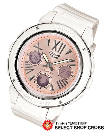 【名入れ対応】 【3年保証】 腕時計 ブランド Baby-G ベビーG カシオ CASIO レディース キッズ 子供 アナデジ BGA-152-7B2JF ホワイト 白/ピンク 国内モデル