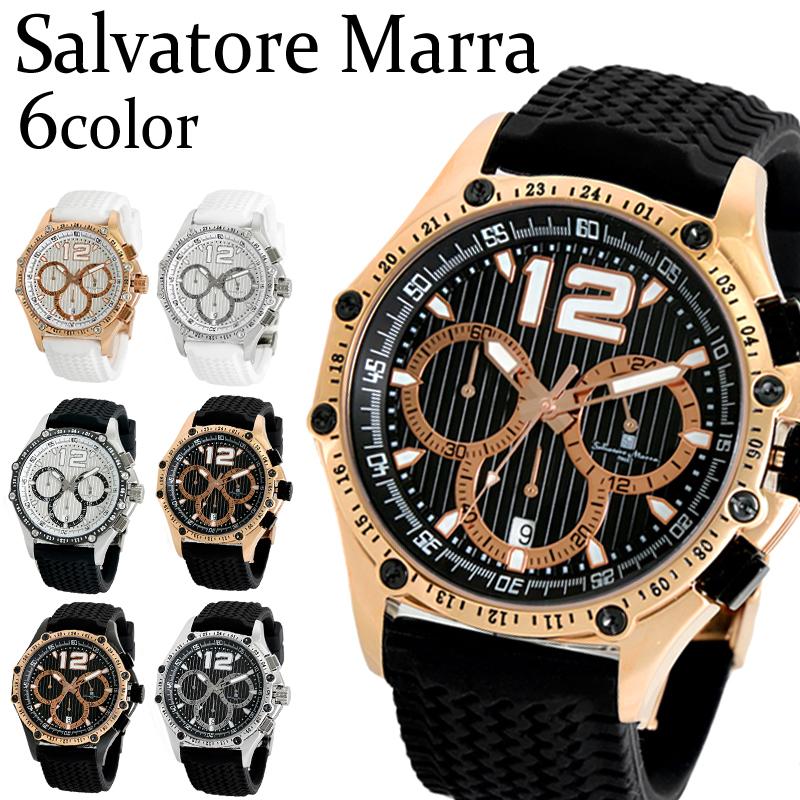 送料無料 ランキング上位常連ブランド サルバトーレマーラ Salvatore Marra クロス限定 メンズ クロノグラフ ウォッチ シリコン SM14116 6種類から選べる!! 【はこぽす対応商品】