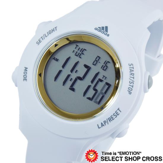 adidas アディダス デジタル 腕時計 Performance パフォーマンス SPRUNG スプラング ホワイト×ゴールド ADP3213