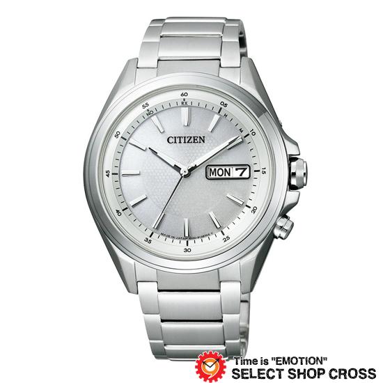 CITIZEN シチズン 腕時計 電波時計 ATTESA アテッサ エコ・ドライブ電波 シルバー×シルバー AT6040-58A 【あす楽】
