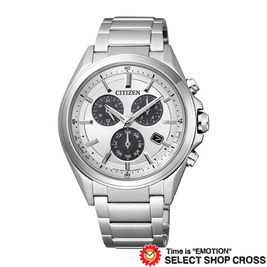 CITIZEN シチズン ATTESA アテッサ メタルフェイス クロノグラフ 腕時計 メンズ チタン シルバー BL5530-57A