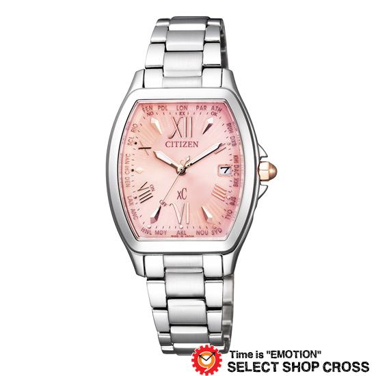 CITIZEN シチズン 腕時計 ブランド 電波時計 XC クロスシー エコ・ドライブ電波 レディース HAPPY FLIGHT(ハッピーフライト) ピンク×シルバー EC1100-56W