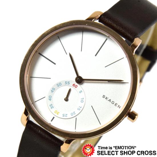 【3年保証】 スカーゲン メンズ レディース ユニセックス 腕時計 SKAGEN 時計 スカーゲン 時計 SKAGEN 腕時計 ハーゲン Hagen ブラウン/ピンクゴールド レザー SKW2356 スカーゲン レディース