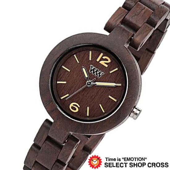 WEWOOD ウィーウッド 正規品 MIMOSA CHOCOLATE ミモザ チョコレート NATURAL WOOD ナチュラルウッド ハンドメイド 木製腕時計 9818075