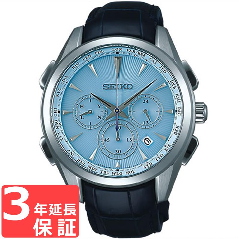 【無料ギフトバッグ付き】 【3年保証】 SEIKO セイコー BRIGHTZ ブライツ ソーラー電波修正 メンズ 腕時計 電波時計 SAGA215 正規品