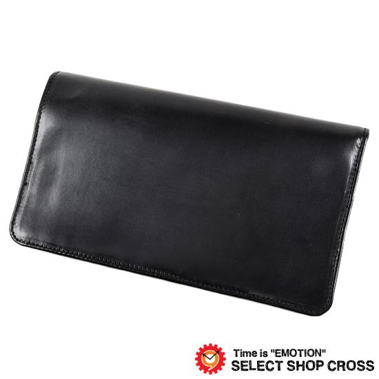 GLENROYAL グレンロイヤル 長財布/ロングウォレット LARGE WALLET 小銭入れなし ブライドルレザー 03-2474 NEW BLACK ブラック