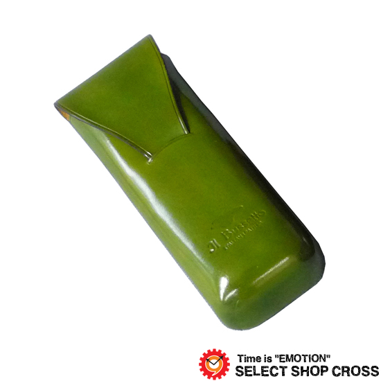IL Bussetto イルブセット レザー メガネケース/眼鏡ケース 縦型 Glasses case 05-007 Green グリーン 正規品