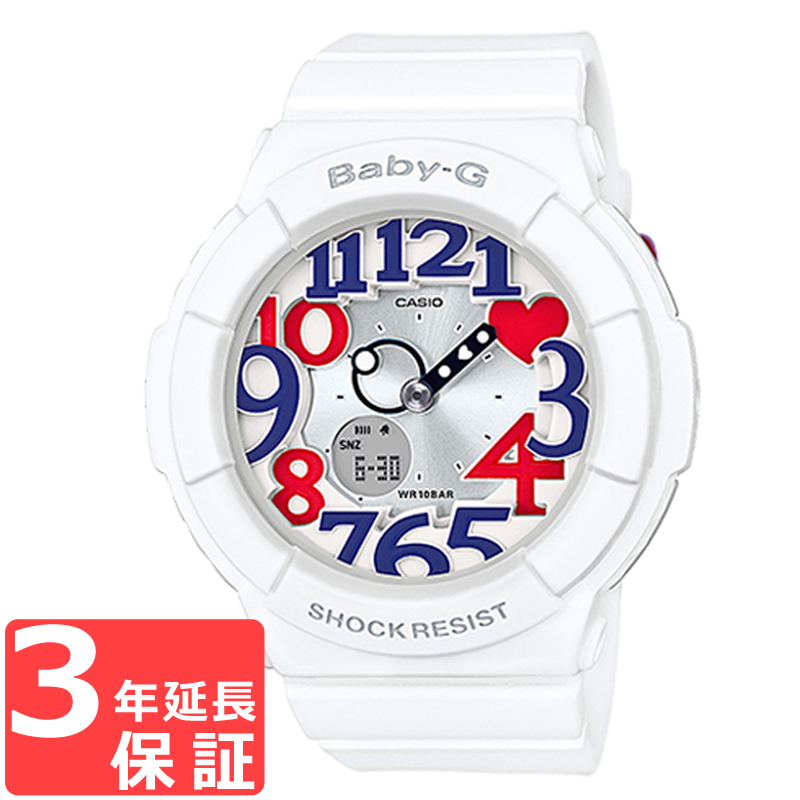 驚きの値段で 【名入れ・ラッピング対応可】 【3年保証】 CASIO カシオ BABY-G ベビーG レディース キッズ 子供 腕時計 ブランド アナデジ ホワイト・トリコロール BGA-130TR-7BDR 海外モデル, スタイルTY fbb1ee6c