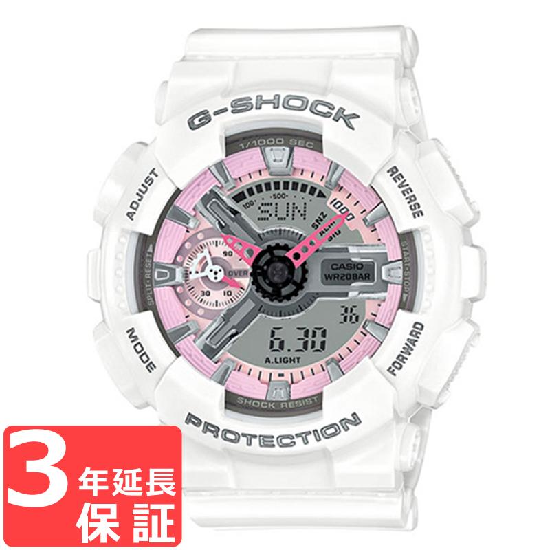 【名入れ対応】 【100%本物保証】 【3年保証】 CASIO カシオ G-SHOCK Gショック 防水 ジーショック 腕時計 ブランド メンズ レディース ユニセックス アナデジ ホワイト 白 ピンク GMA-S110MP-7ADR 海外モデル