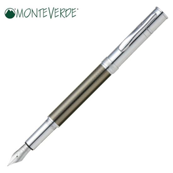 モンテベルデ MONTEVERDE 筆記用具 万年筆 ジュエリア エグゼクティブ ガンメタルバーレイ ペン先・F 1919565 正規品 名入れ