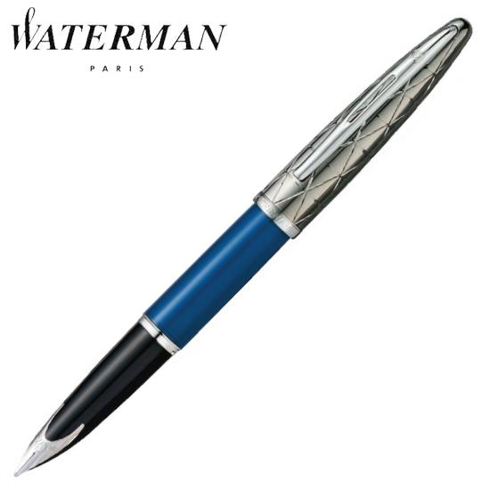 ウォーターマン 筆記用具 万年筆 カレン・デラックス コンテンポラリー ブルーST M 1904559AS 正規品 名入れ