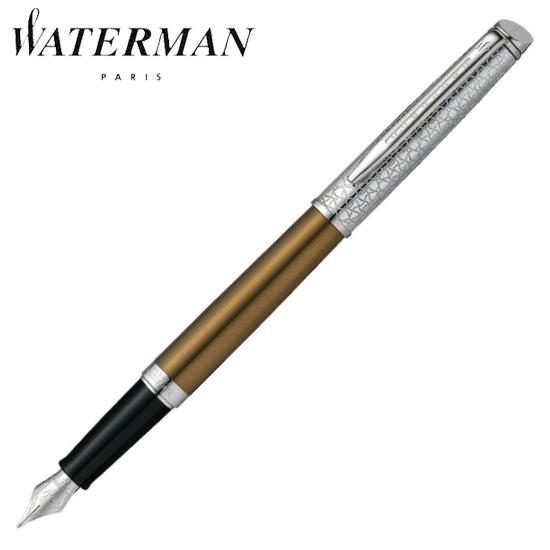 ウォーターマン 筆記用具 万年筆 メトロポリタン ブロンズサテンCT F 1971691AS 正規品 名入れ