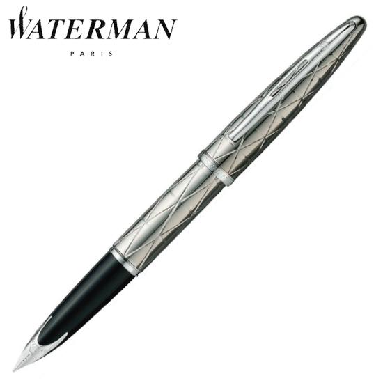 ウォーターマン 筆記用具 万年筆 カレン・デラックス コンテンポラリー ガンメタルチーゼルST F S0909990AS 正規品 名入れ