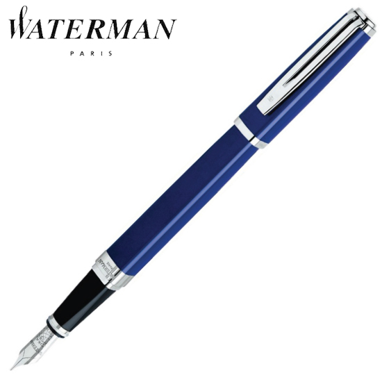ウォーターマン 筆記用具 万年筆 エクセプション・スリム ブルーラッカーST F S2223132 正規品 名入れ