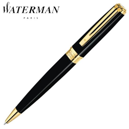 ウォーターマン 筆記用具 ボールペン エクセプション・スリム ブラックラッカーGT S2223352 正規品 名入れ
