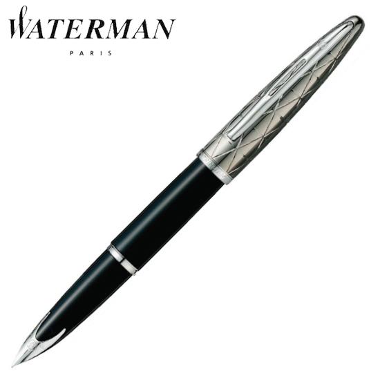 ウォーターマン 筆記用具 万年筆 カレン・デラックス コンテンポラリー ブラックST M S2227113 正規品 名入れ