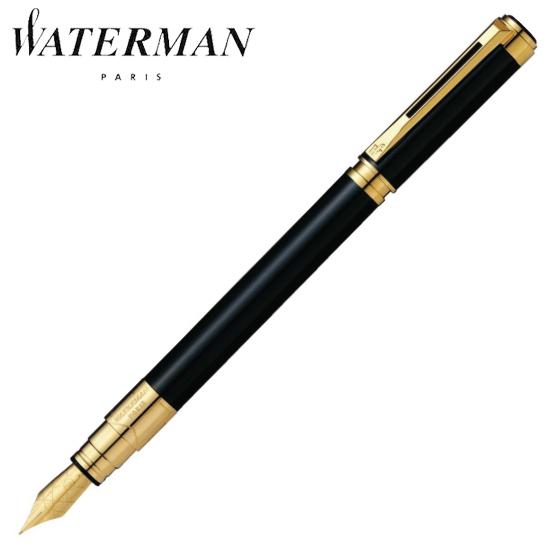 【正規品売店】 ウォーターマン 筆記用具 万年筆 パースペクティブ ブラックGT F S2236102 正規品 名入れ