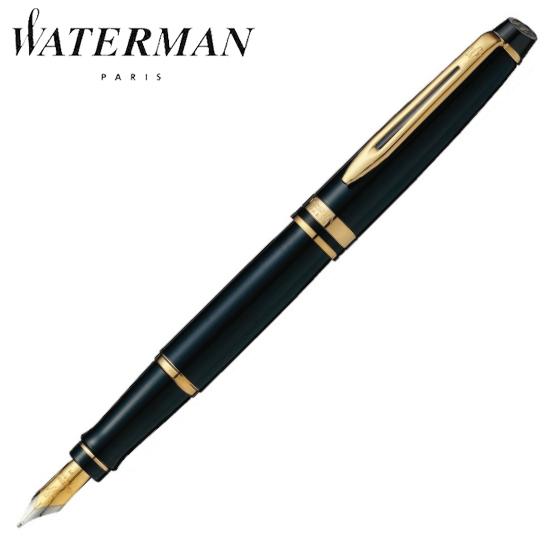 ウォーターマン 筆記用具 万年筆 エキスパート エッセンシャル ブラックGT EF S2243111 正規品 名入れ 【あす楽】