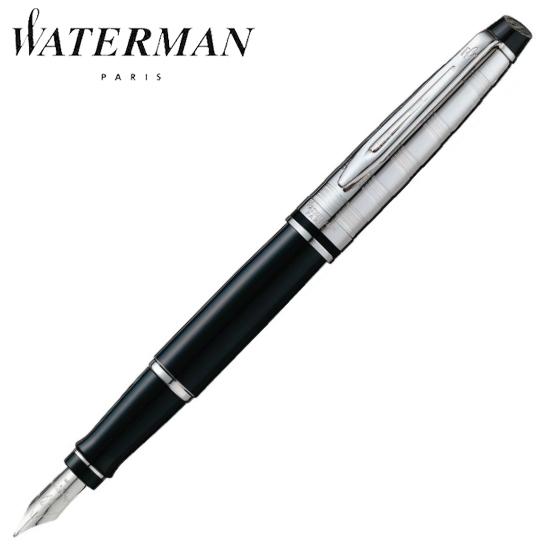ウォーターマン 筆記用具 万年筆 エキスパート デラックス ブラックCT F S2243172 正規品 名入れ