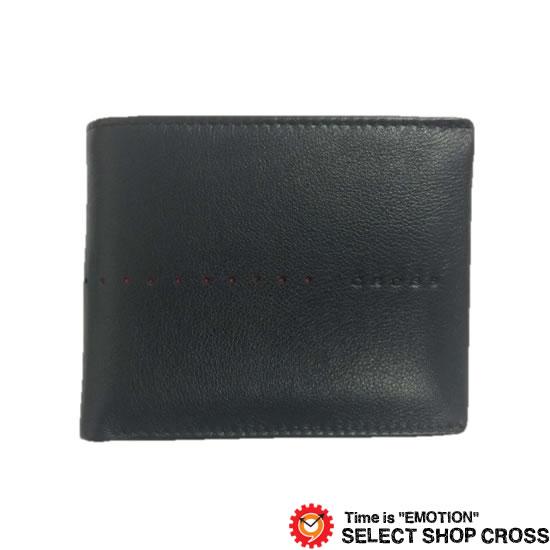 CROSS クロス NUEVA ヌエヴ 二つ折り財布 AC-188371-10 ブラック 牛革 レザー 正規品