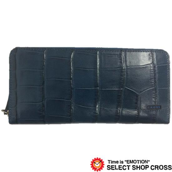 CROSS クロス COCO ココ 長財布 AC-198369-50 ネイビー 牛革 レザー 正規品