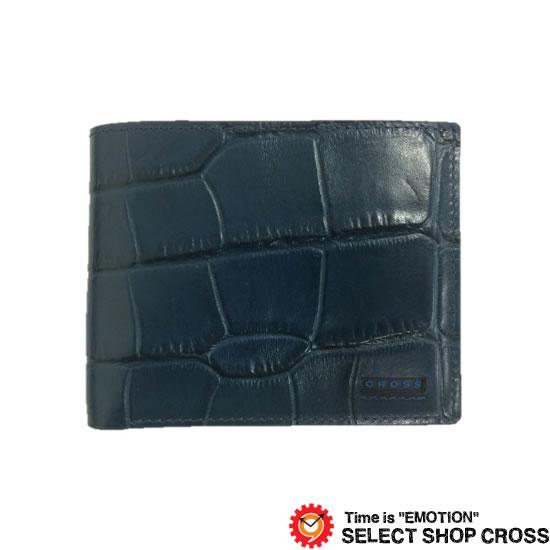 CROSS クロス COCO ココ 二つ折り財布 AC-198371-50 ネイビー 牛革 レザー 正規品