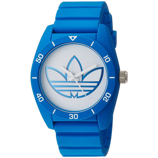 adidas アディダス SANTIAGO サンティアゴ クオーツ メンズ 腕時計 adh3196 ブルー×ホワイト