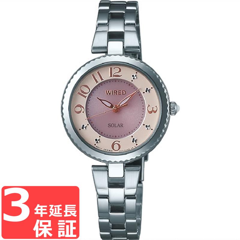 【3年保証】 SEIKO セイコー ALBA アルバ WIRED f ワイアード エフ ソーラー レディース 腕時計 ブランド AGED085 正規品